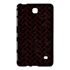 Brick2 Black Marble & Red Wood (r) Samsung Galaxy Tab 4 (7 ) Hardshell Case  by trendistuff