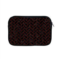 Brick2 Black Marble & Red Wood (r) Apple Macbook Pro 15  Zipper Case by trendistuff