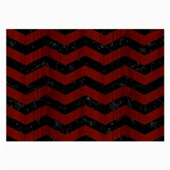 Chevron3 Black Marble & Red Wood Large Glasses Cloth (2 Side)