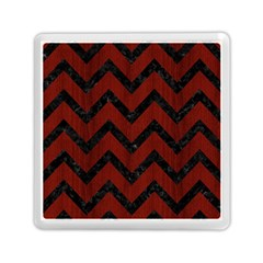 Chevron9 Black Marble & Red Wood Memory Card Reader (square)  by trendistuff