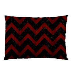 Chevron9 Black Marble & Red Wood (r) Pillow Case by trendistuff