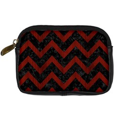 Chevron9 Black Marble & Red Wood (r) Digital Camera Cases by trendistuff