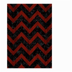Chevron9 Black Marble & Red Wood (r) Small Garden Flag (two Sides) by trendistuff