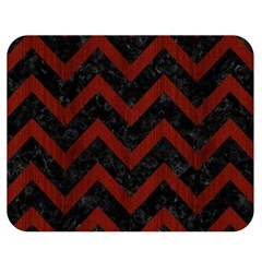 Chevron9 Black Marble & Red Wood (r) Double Sided Flano Blanket (medium)  by trendistuff