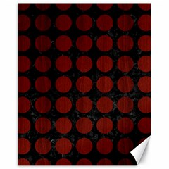 Circles1 Black Marble & Red Wood (r) Canvas 16  X 20   by trendistuff