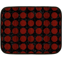 Circles1 Black Marble & Red Wood (r) Double Sided Fleece Blanket (mini)  by trendistuff
