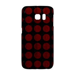 Circles1 Black Marble & Red Wood (r) Galaxy S6 Edge by trendistuff