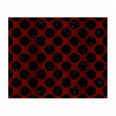 Circles2 Black Marble & Red Wood Small Glasses Cloth (2 Side) by trendistuff