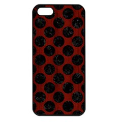 Circles2 Black Marble & Red Wood Apple Iphone 5 Seamless Case (black) by trendistuff