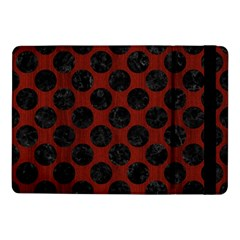 Circles2 Black Marble & Red Wood Samsung Galaxy Tab Pro 10 1  Flip Case by trendistuff