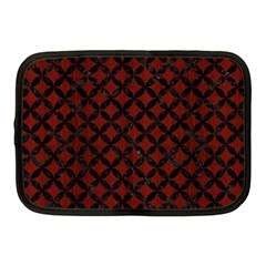Circles3 Black Marble & Red Wood Netbook Case (medium)  by trendistuff