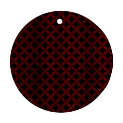 Circles3 Black Marble & Red Wood (r) Round Ornament (two Sides) by trendistuff