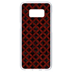 Circles3 Black Marble & Red Wood (r) Samsung Galaxy S8 White Seamless Case by trendistuff