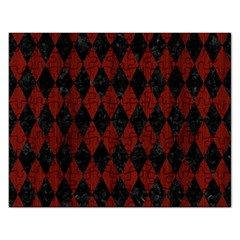 Diamond1 Black Marble & Red Wood Rectangular Jigsaw Puzzl by trendistuff
