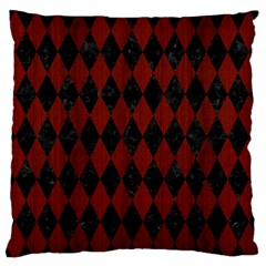 Diamond1 Black Marble & Red Wood Standard Flano Cushion Case (two Sides) by trendistuff