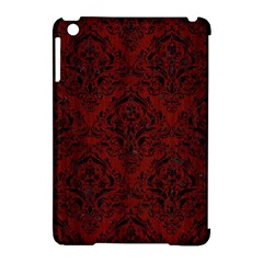 Damask1 Black Marble & Red Wood Apple Ipad Mini Hardshell Case (compatible With Smart Cover) by trendistuff