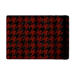 Houndstooth1 Black Marble & Red Wood Apple Ipad Mini Flip Case by trendistuff