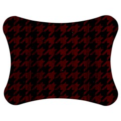 Houndstooth1 Black Marble & Red Wood Jigsaw Puzzle Photo Stand (bow) by trendistuff