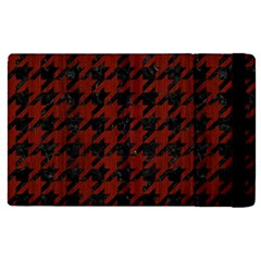 Houndstooth1 Black Marble & Red Wood Apple Ipad Pro 12 9   Flip Case by trendistuff