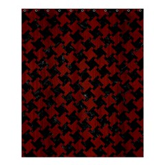 Houndstooth2 Black Marble & Red Wood Shower Curtain 60  X 72  (medium)  by trendistuff