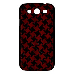 Houndstooth2 Black Marble & Red Wood Samsung Galaxy Mega 5 8 I9152 Hardshell Case  by trendistuff