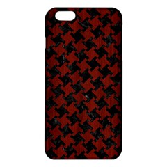 Houndstooth2 Black Marble & Red Wood Iphone 6 Plus/6s Plus Tpu Case by trendistuff