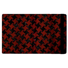Houndstooth2 Black Marble & Red Wood Apple Ipad Pro 12 9   Flip Case by trendistuff