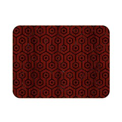 Hexagon1 Black Marble & Red Wood Double Sided Flano Blanket (mini)  by trendistuff