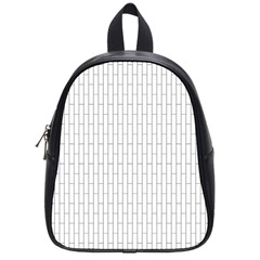 Line Black School Bag (small) by Alisyart