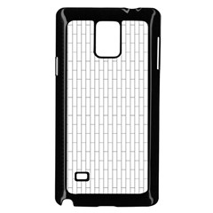 Line Black Samsung Galaxy Note 4 Case (black) by Alisyart