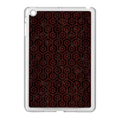 Hexagon1 Black Marble & Red Wood (r) Apple Ipad Mini Case (white) by trendistuff