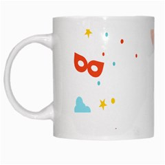 Music Cloud Heart Love Valentine Star Polka Dots Rainbow Mask Sky White Mugs by Alisyart