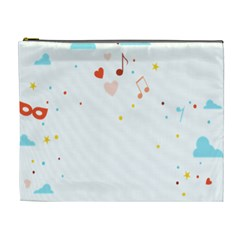Music Cloud Heart Love Valentine Star Polka Dots Rainbow Mask Sky Cosmetic Bag (xl) by Alisyart