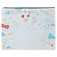 Music Cloud Heart Love Valentine Star Polka Dots Rainbow Mask Sky Cosmetic Bag (xxxl)