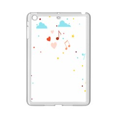 Music Cloud Heart Love Valentine Star Polka Dots Rainbow Mask Sky Ipad Mini 2 Enamel Coated Cases