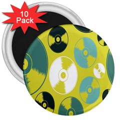 Streaming Forces Music Disc 3  Magnets (10 Pack)