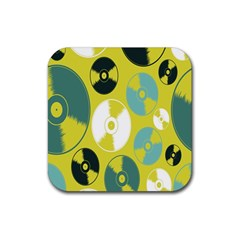 Streaming Forces Music Disc Rubber Square Coaster (4 Pack)  by Alisyart