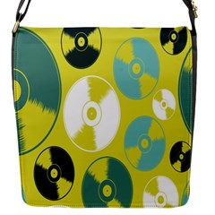 Streaming Forces Music Disc Flap Messenger Bag (s)