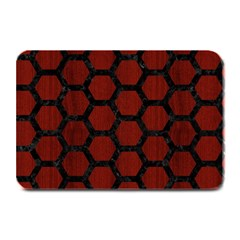 Hexagon2 Black Marble & Red Wood Plate Mats by trendistuff