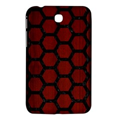 Hexagon2 Black Marble & Red Wood Samsung Galaxy Tab 3 (7 ) P3200 Hardshell Case  by trendistuff