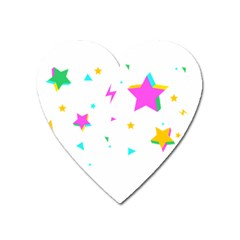 Star Triangle Space Rainbow Heart Magnet by Alisyart