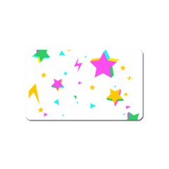 Star Triangle Space Rainbow Magnet (name Card)