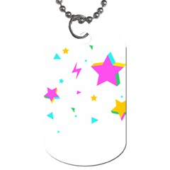 Star Triangle Space Rainbow Dog Tag (two Sides) by Alisyart