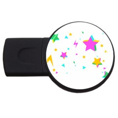 Star Triangle Space Rainbow Usb Flash Drive Round (4 Gb) by Alisyart