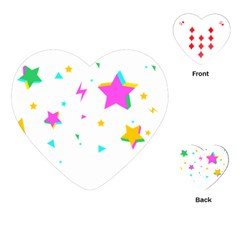 Star Triangle Space Rainbow Playing Cards (heart)  by Alisyart