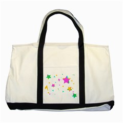 Star Triangle Space Rainbow Two Tone Tote Bag