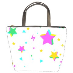 Star Triangle Space Rainbow Bucket Bags by Alisyart