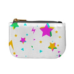 Star Triangle Space Rainbow Mini Coin Purses by Alisyart