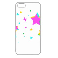 Star Triangle Space Rainbow Apple Seamless Iphone 5 Case (clear) by Alisyart