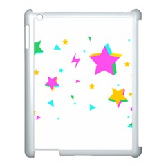 Star Triangle Space Rainbow Apple Ipad 3/4 Case (white) by Alisyart